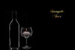 Candle and Wine Royalty Free Stock Photography