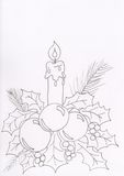 Candle and wreath Royalty Free Stock Image