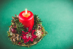 Candle for Xmas Royalty Free Stock Image