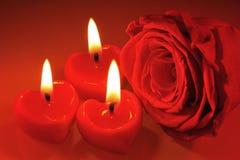 Candlehearts Imagens de Stock