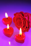 Candlehearts zdjęcia stock