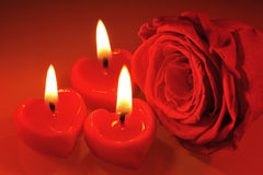 Candlehearts Stock Images
