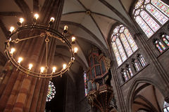 Candleholder of Strasbourg cathedral Stock Photo