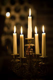 Candleholder in wine cellar Royalty Free Stock Image