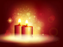 Candlelight. Beautiful Christmas background. Candle light Stock Photography