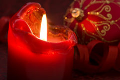Candlelight with Bauble Stock Images