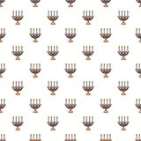 Candlelight candlestick pattern seamless. Candlelight candlestick pattern in cartoon style. Seamless pattern vector illustration Royalty Free Stock Photo