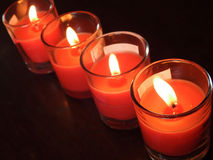 Candlelight with dark background Royalty Free Stock Photography