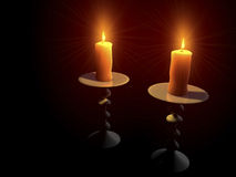 Candlelight. Digital Illustration of a Candle Royalty Free Stock Photos