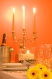 Candlelight dinner Stock Image