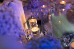 Candlelight Dinner. Wedding table set for dining,Candlelight Dinner,wedding party royalty free stock images