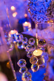 Candlelight Dinner. Wedding table set for dining,Candlelight Dinner,wedding party stock photography