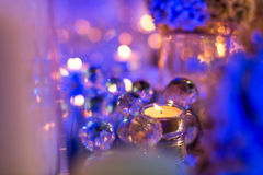 Candlelight Dinner. Wedding table set for dining,Candlelight Dinner,wedding party royalty free stock photography