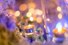 Candlelight Dinner. Wedding table set for dining,Candlelight Dinner,wedding party royalty free stock image