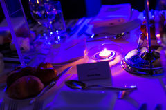 Candlelight Dinner. Wedding table set for dining,Candlelight Dinner,wedding party stock image