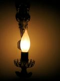 Candlelight light. Electronic Candlelight at night Royalty Free Stock Photos