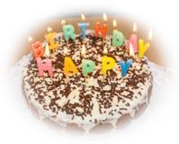 candlelight objeto hecho en casa de la comida de la torta de cumpleaños foto de archivo libre de regalías