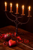 Candlelight with Ornament Royalty Free Stock Images