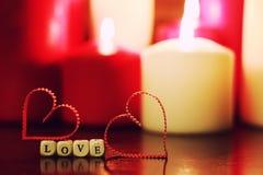 Candlelight set love Royalty Free Stock Photos