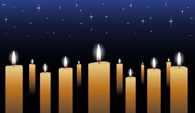 Candlelight Vigil Royalty Free Stock Photos