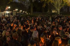 Candlelight Vigil for Paris Royalty Free Stock Image