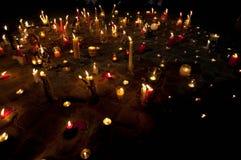 Candlelight walk Royalty Free Stock Photos
