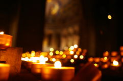 Candlelights in the dark Stock Image
