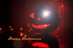 Candlelit Kürbis Kürbishalloweens A für Halloween Kerzen und Kürbis Schnitzen des geschnitzten furchtsamen Kürbiskopfes Ängstlich lizenzfreies stockfoto