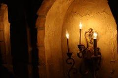 Candlelit korridor Royaltyfria Foton