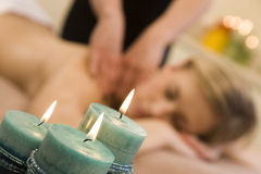 Candlelit Massage Stock Photography
