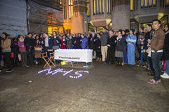 Candlelit Vigil by the Doctors. The junior doctors held a candlelit vigil outside the Department of Health on the eve of the first ever full out strike by Stock Photos
