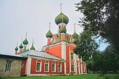 Candlemas的Vladimirsky大教堂在红场附近的在Pereslavl-Zalessky,俄罗斯 库存照片
