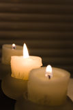 Candles. Three candles, focused in the middles Royalty Free Stock Image