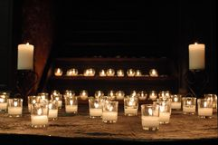 Candles. Candlelight to read by royalty free stock photos