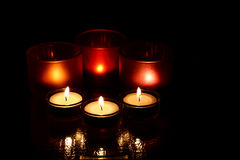 Candles. Group of two kinds of candles Royalty Free Stock Image