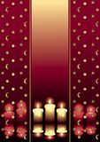 Candles. Holiday decoration in red with candles Royalty Free Stock Images
