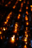 Candles. In the church, shallow DOF Royalty Free Stock Images