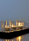 Candles. A set of three zen candles Stock Image