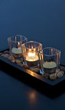 Candles. A set of three zen candles Stock Photography