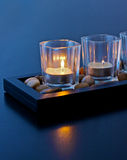 Candles. A set of three zen candles Royalty Free Stock Photos