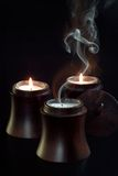 Candles. Chinese candles on black background Royalty Free Stock Image