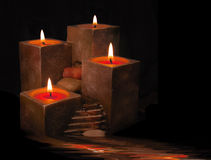 Candles. With running water Stock Image