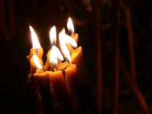 Candles. Burning in the night Royalty Free Stock Photo