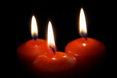 Candles. Three candles (see more in my portfolio Stock Photography