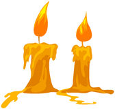 Candles. Illustration of isolated two candles on white background royalty free illustration