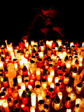 Candles. At church, blur, religion Stock Image