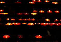 Candles. In a cathedral stock image