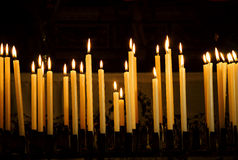 Candles. Honey candles in a church in Sicily Stock Photo