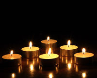 Candles. On a photo candles in the night Stock Photography