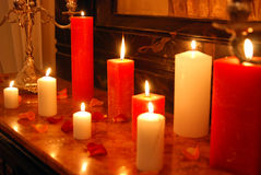 Candles. Some candles in rich interior Royalty Free Stock Photography